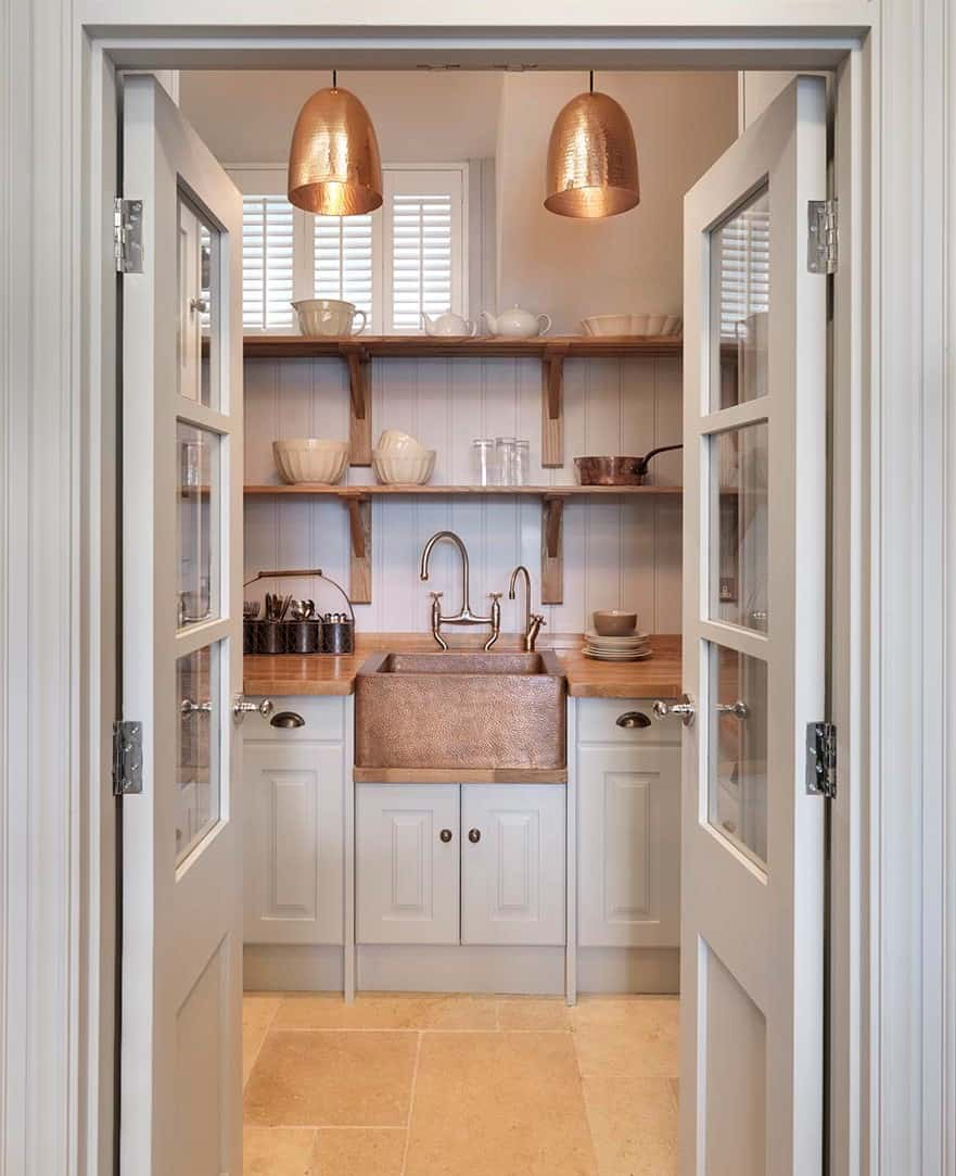 Artisan Kitchen with copper accents John Lewis of Hungerford