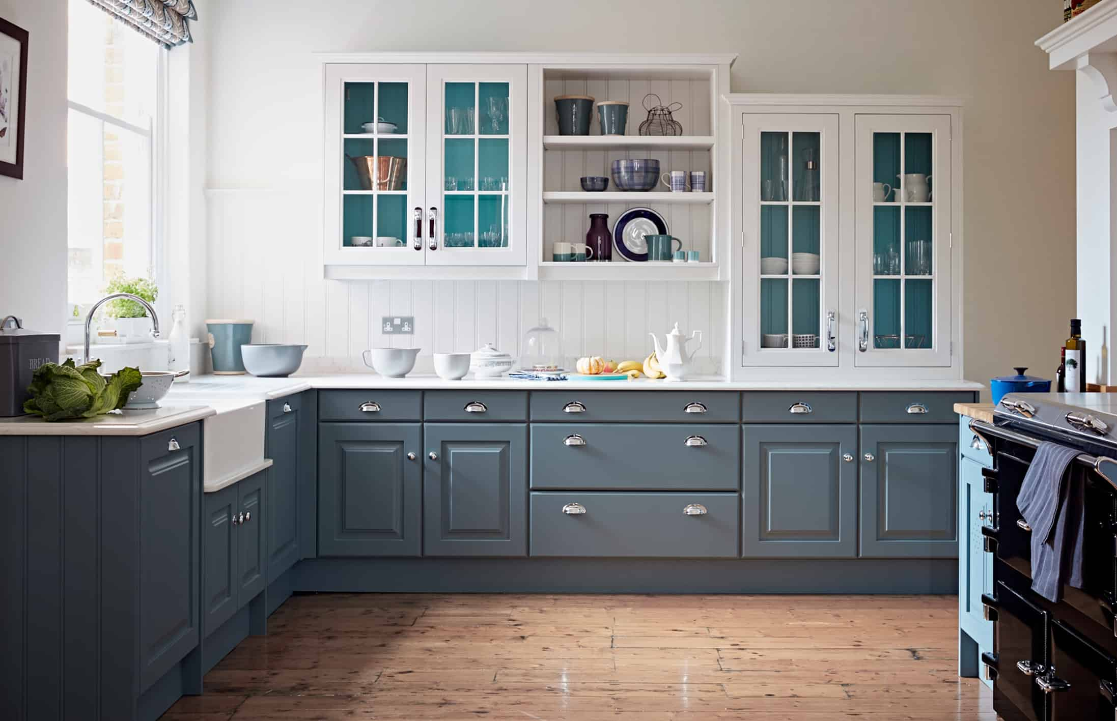 Blue artisan kitchen John Lewis of Hungerford