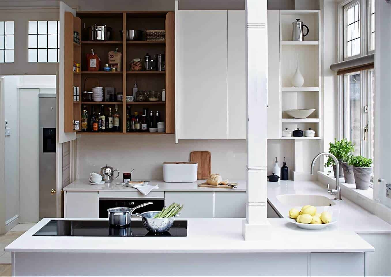 Small handleless kitchen John Lewis of Hungerford