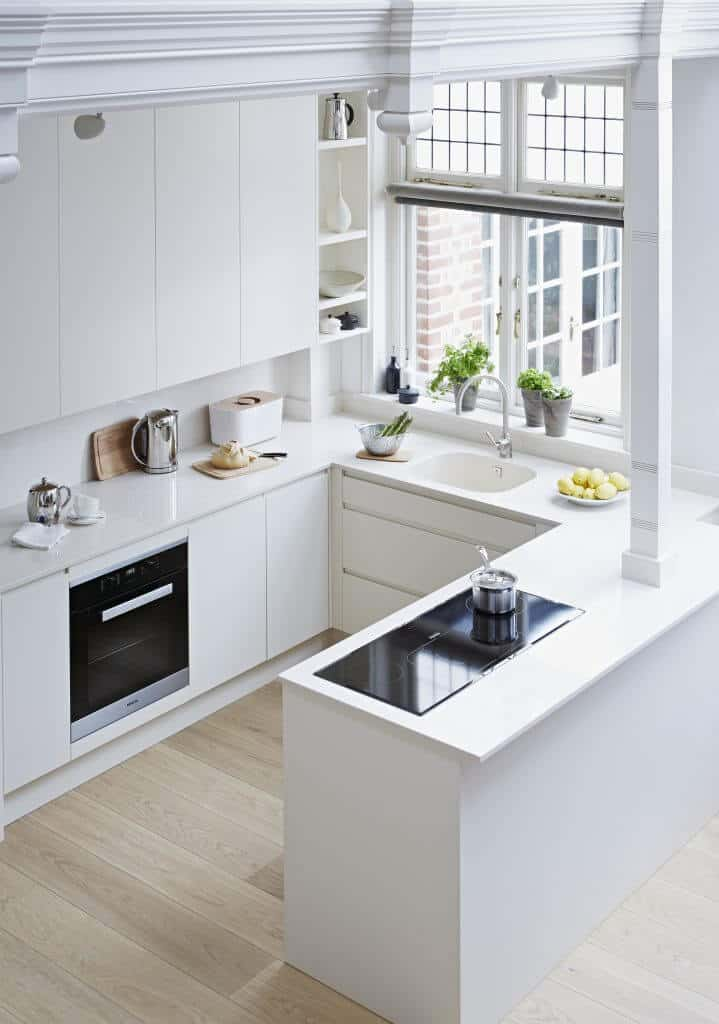 Pure White Handleless Kitchen
