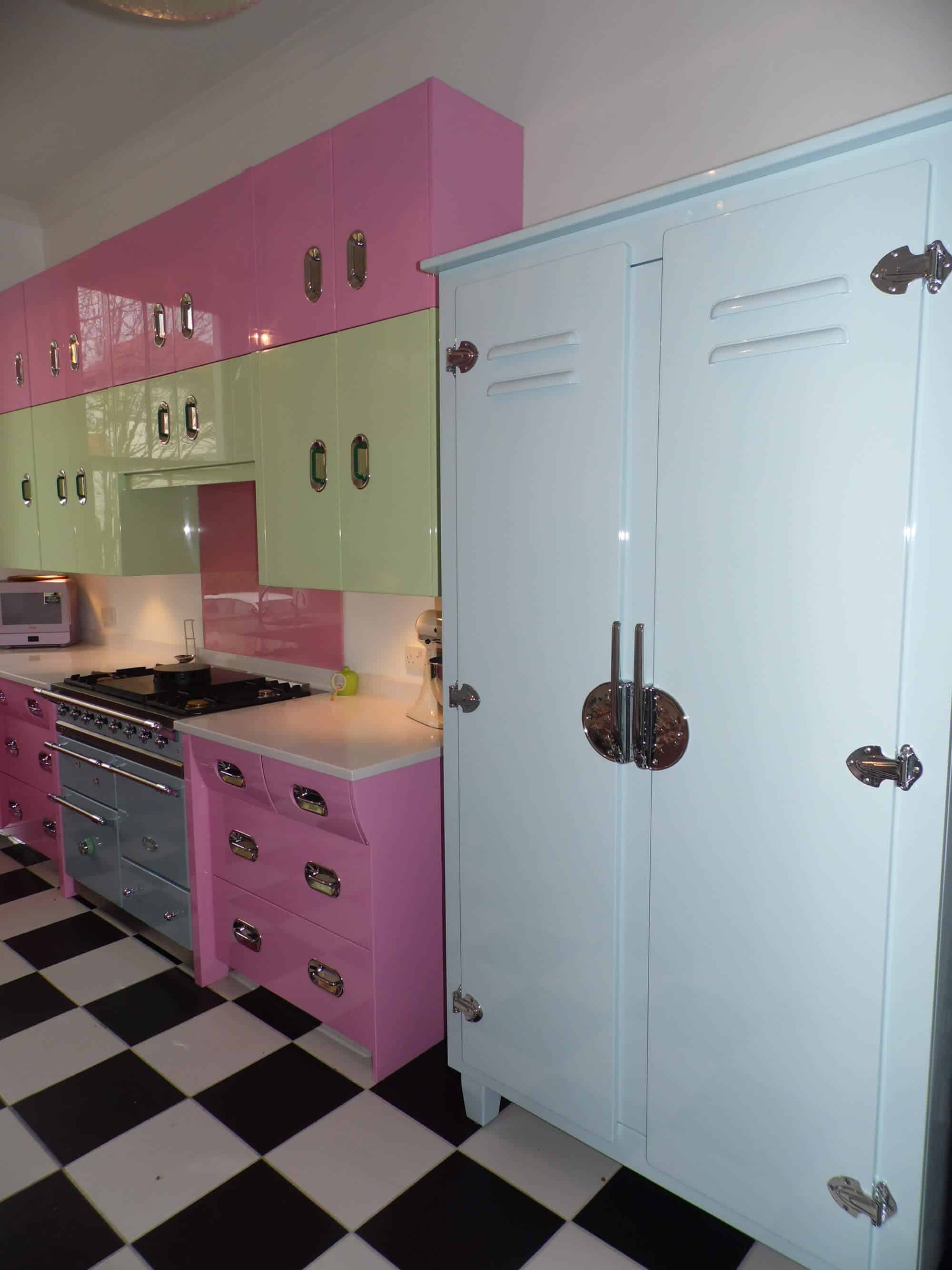 Pink and green retro kitchen John Lewis of Hungerford