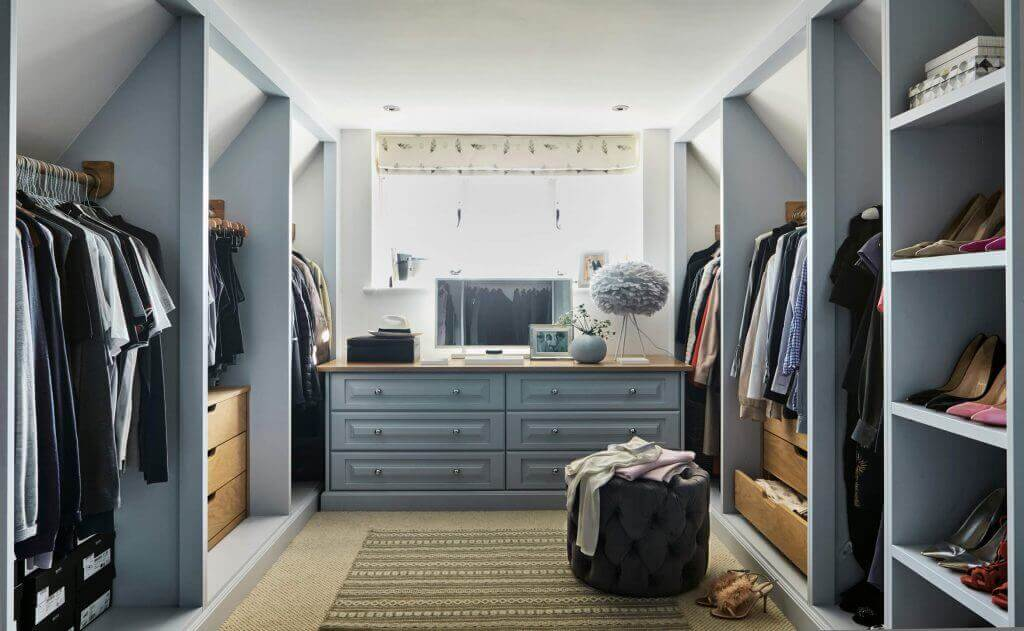Bespoke walk in wardrobe by John Lewis of Hungerford