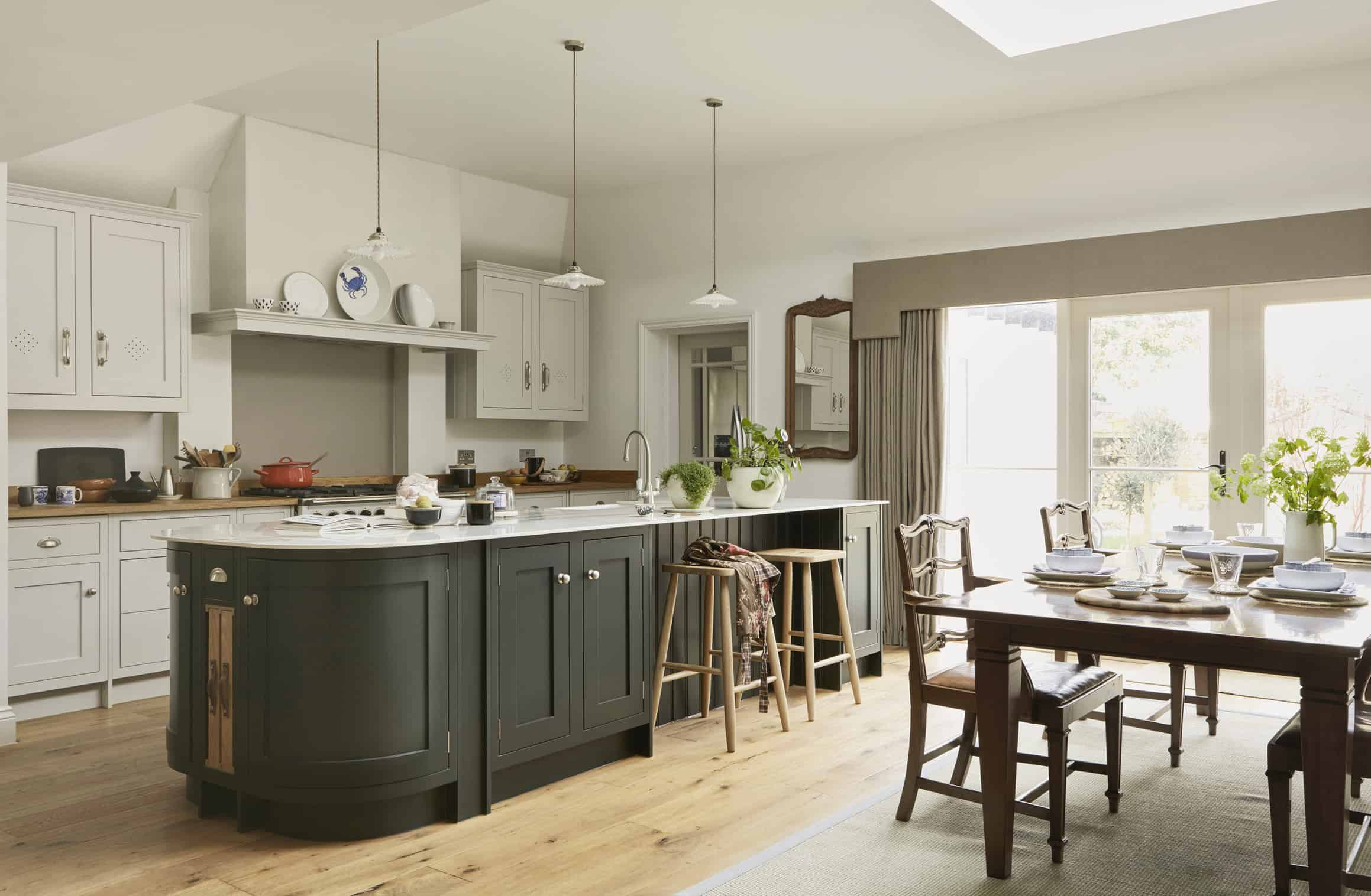 Rustic traditional kitchen island John Lewis of Hungerford