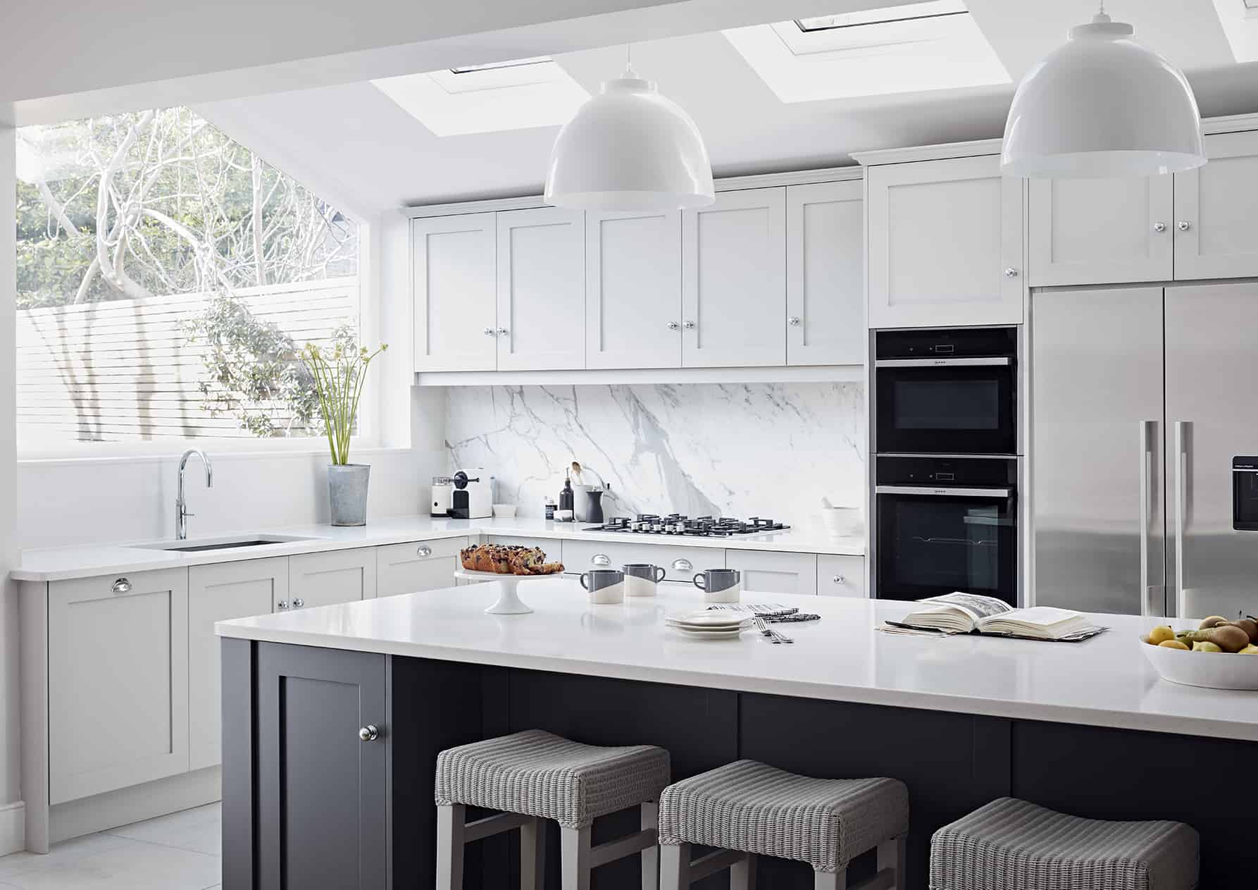 Black and white Shaker Kitchen John Lewis of Hungerford