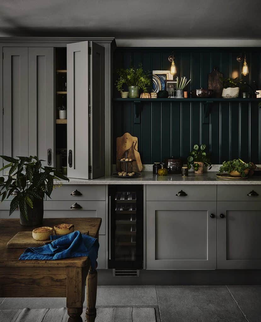 Rustic style Shaker kitchen John Lewis of Hungerford