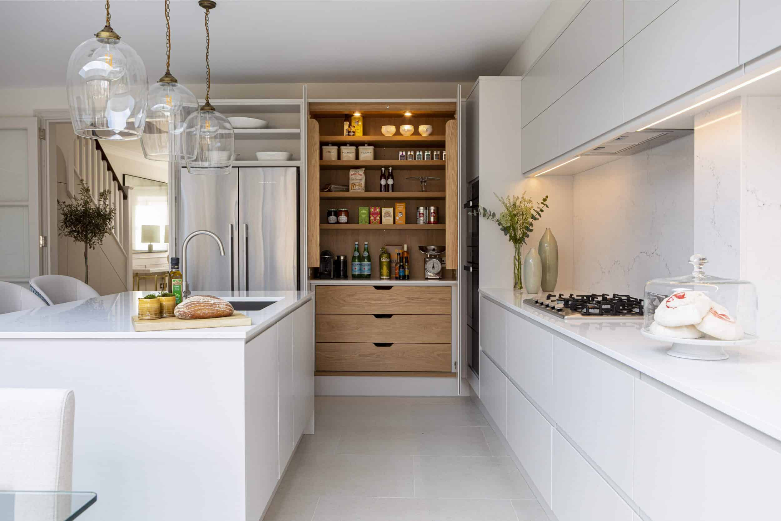 handleless kitchen pantry
